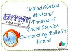 Social Studies....how do you teach it all? Represent it all together with this bulletin board idea :)