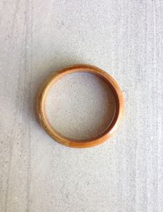 Honey Wood Bangle Bracelet