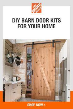 Diy Barn Door, Barn Doors, Pool Diy, Door Kits, Basement Remodeling, Home Renovation, Home Projects, Planer, House Plans