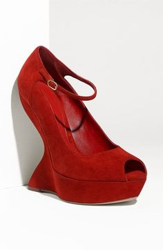 Alexander McQueen Peep Toe Sculpted Wedge Pump | Nordstrom - StyleSays
