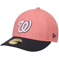 e08d2107ded Men s Washington Nationals New Era Red Navy Change Up Low Profile 59FIFTY  Fitted Hat