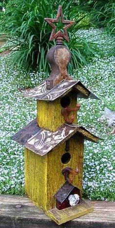 Pagoda Vintage Birdhouse by Lorenzo's Wood Works