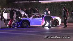 Ferrari 458 Italia crashed in Los Angeles, CA