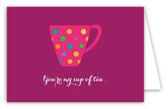 My Cup of Tea Folded Notecard