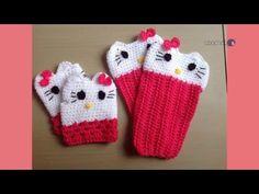 DIY Crochet Gloves | Hello Kitty Gloves | Beginners Crochet Tutorial - YouTube
