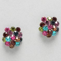 Crystal Cluster Earrings in Magnolia on Emma Stine Limited