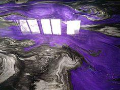 Epoxy floor Purple - Hudson Valley Epoxy Flooring on. Epoxy Floor Diy, Epoxy Floor Basement, Epoxy Resin Flooring, Epoxy Countertop, Diy Flooring, Epoxy Floor Designs, Garage Epoxy, Diy Epoxy, Flooring Tiles