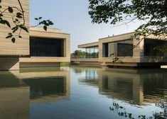 Unusual Art Museum sitting over a lake in eastern China #architecture #bwfurniture