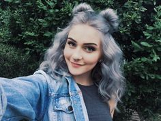 alternative, color hair, curly, fashion, grey, indie, makeup, piercing, septum, site model, softgrunge, style, viners, kimmyschram