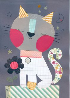 21 Ideas for wall paper cat illustration etsy Painting For Kids, Art For Kids, Decoration Creche, Animal Art Projects, Baby Art, Illustrations And Posters, Cute Illustration, Nursery Art, Cute Art