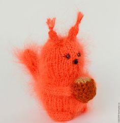 Купить Белочка вязаная игрушка белка амигуруми - рыжий, белка, белка игрушка, вязаная белочка
