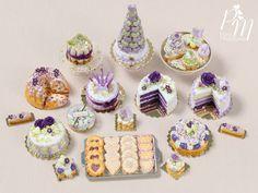 Blueberry Kouglof & Pound Cake Miniature Food for Dollhouse Miniature Crafts, Miniature Food, Miniature Dolls, Polymer Clay Miniatures, Polymer Clay Crafts, Dollhouse Miniatures, Doll Food, Tiny Food, Biscuit