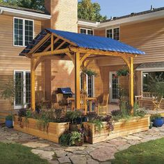 A pergola is a great way to add a little shade and a sense of privacy to your patio. But the open latticework doesn't provide complete shade or any protection from rain. If you're planning to build a pergola, or want more shade or rain protection than you Gazebo, How To Shade, Screen House, Building A Pergola, Wooden Pergola, Diy Pergola, Pergola Ideas, Iron Pergola, Steel Pergola