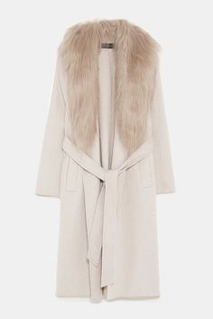 COAT WITH FAUX FUR COLLAR 4f7c3e7a6