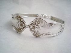 I love jewelry made from old silver spoons