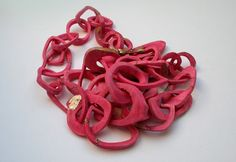 """collier Ynac (collection """"jusqu'aux os"""")(bone necklace)  - Salon Parures et Allures - Ateliers d'Art de France -"""