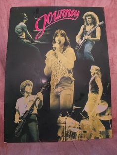 1982 Journey Band Members Metal Poster by MoonbearConnections