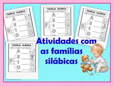 Famílias silábicas Learn To Read Kindergarten, Spanish Lessons, Learning, School, Myla, 1, Preschool Literacy Activities, Kids Learning Activities, Letter Activities