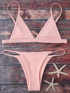 SHARE & Get it FREE | Cami Plunge String Bikini Set - PinkFor Fashion Lovers only:80,000+ Items • New Arrivals Daily Join Zaful: Get YOUR $50 NOW!
