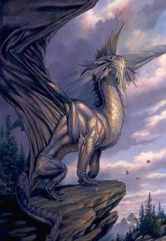 Silver Dragon Todd Lockwood is amazing