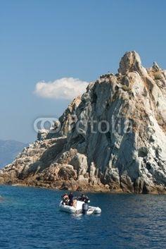 People Preparing For Diving, Elba Island