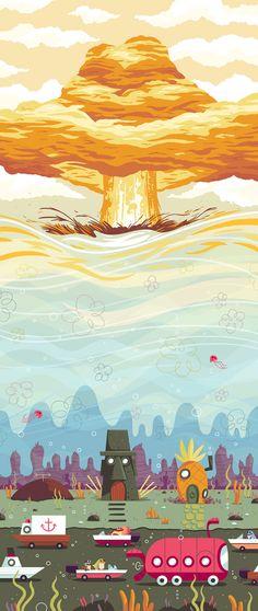 Desene animate in postere de Andrew Kolb | 2 din 7