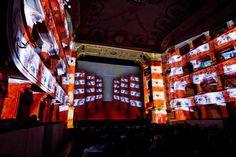 mapping projection at Teatro dei Rinnovati photo: Dario Pichini #giusepperagazzini #dannyrose #Collage #setdesign #painting #art #mapping #theatre #teatrodeirinnovati #siena #italocalvino #cittainvisibili #videoprojection #animation #theatremapping #mappingprojection #setdesignprojection