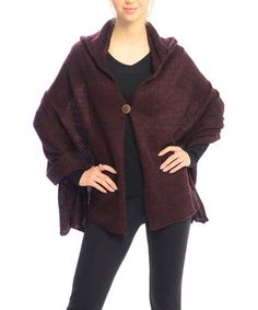 Another great find on #zulily! Wine Button-Up Cape #zulilyfinds