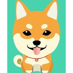 Red Shiba Inu cartoon.