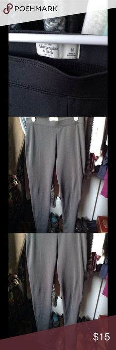 A&F high waist leggings Used once. Thick. Flaw shown in last pic. Abercrombie & Fitch Pants Leggings