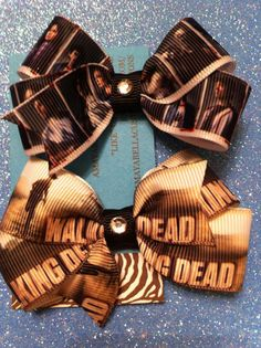 The Walking Dead bow set by AMAYABELLA on Etsy, $6.00