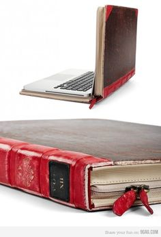 Computer cover that looks like a book!