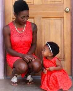 Twa natural hair tapered cut mother daughter 4c. Photo Credit: Kamms TheAce