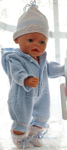 Tricot pour poupee - Voici une jolie tenue pour votre poupon.
