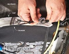 How to Install Seat Covers: Tighten and connect the bungee cords. Here's how: http://www.familyhandyman.com/automotive/car-maintenance/spruce-up-your-car-how-to-install-seat-covers/view-all