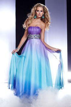 Beautiful blue/purple prom dress