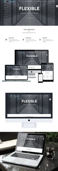 AT Cloud-Hosting Joomla Template. Joomla Themes