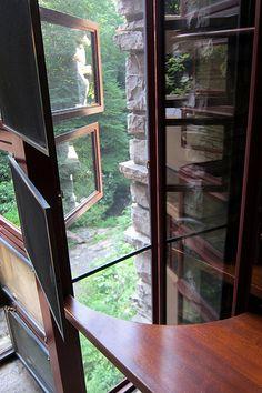 "Frank Lloyd Wright, ""Fallingwater"", Kaufman Residence. 1936-39, Bear Run Creek in Mill Run, PA."