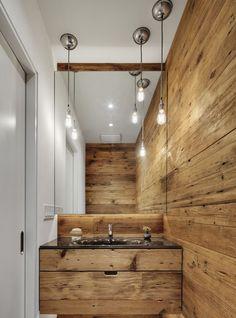Real Wood Bathroom // wood-material-shape-bathroom-mood
