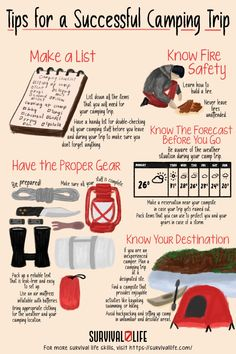 Planning on going Tent Camping soon? Check out these tips for a Successful Tent Camping Trip! ✅ #camping #campingtrip #survival #preparedness #survivallife Survival Life, Camping Survival, Outdoor Survival, Emergency Preparedness, Survival Skills, Camping Lunches, Tent Camping, Outdoor Shelters, Best Breakfast Recipes