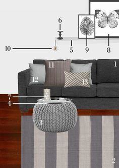 Pinspiration: cozy gray. See how you can get the look for less!
