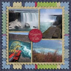 Niagara Falls scrapbook page layouts | Scrapbook-Bytes | Digital Scrapbooking Forum