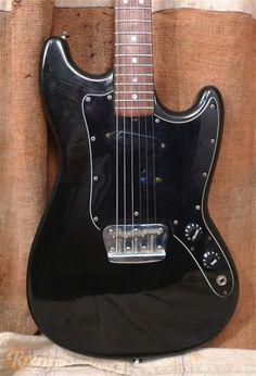 black Fender Musicmaster