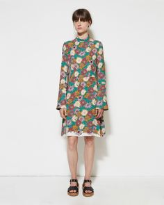 MARNI | Floral Georgette Dress
