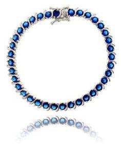 pulseira riviera azul da moda com banho de rodio semi joias online