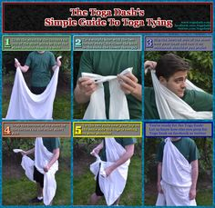 How to Wear a Toga | ... here to learn how to make a running-friendly toga in 6 easy steps