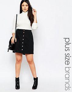Falda con botones de New Look Inspire
