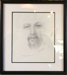 "Portrait: Richard Schmid Pencil by Lu Haskew 12x10"" framed"