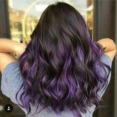 Purple, violet hair colors, hair color purple, cool hair color, h Hair Color Purple, Cool Hair Color, Purple Ombre, Purple Hair Tips, Hidden Hair Color, Purple Hair Streaks, Violet Hair Colors, Pastel Purple, Hair Colours