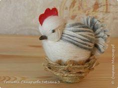 Eu Amo Artesanato: Galinha e pintinhos de lã passo a passo